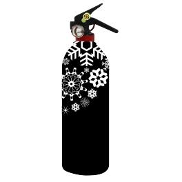 Housse extincteur 1kg - Flocon Noir