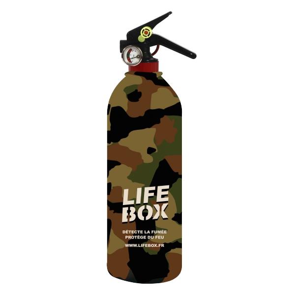Housse extincteur 1kg camouflage lifebox for Housse extincteur
