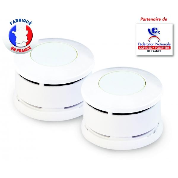 Lot de 2 d tecteurs de fum e certifi s nf lifebox serenity 5 lifebox - Detecteur de fumee lifebox ...