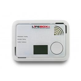 Détecteur de monoxyde de carbone certifié NF Lifebox à écran digital et pile Lithium 10 ans