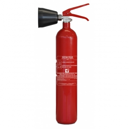 Extincteur à CO2 2kg Lifebox avec diffuseur pour feux de classe B